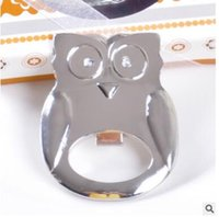 Wholesale Fashion Owl Shape Bottle Opener Cartoon Stainless Portable Can Opener Kitchen Gadgets Wedding Favor Small Gifts