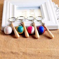 baseball keyring - by FEDEX Newest Sports Gifts Keychains Mini Baseball Keyrings Key Fobs