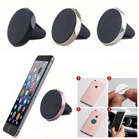 Universal Mini Magnetic Car Air Vent Holder Mount Stand Cradle Rhombic pour téléphone portable iphone S8 GPS