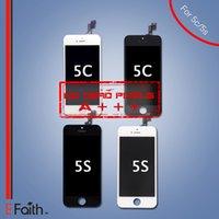 achat en gros de remplacements d'écran lcd-Grade A +++ Écran LCD Écran tactile Écran complet pour iPhone 5S 5C Pièces détachées de rechange Livraison gratuite
