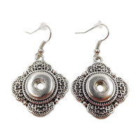 Wholesale zinc alloy noosa snap button earrings mm mini women DIY fashion jewelry factory direct sale