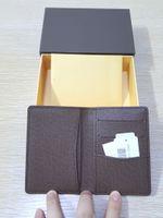 Precio de Bolsas de bolsillos-Bolsillo nuevo organizador de bolsillo famoso de la tarjeta de crédito del diseñador de la alta calidad monedero clásico dobló las notas y los recibos empaquetan el monedero de la carpeta