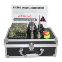 LED display aluminium pipe cap - 110 V Electric Dab Nail Aluminium Box Complete Kit Temperature Controller With Titanium Nail Carb Cap Kit for Glass Bongs Water pipe