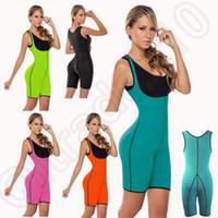 Wholesale 5 Colors Ultra Sweat Compression Neoprene Women Neoprene Full Body Shaper Ultra Sweat Sport Enhancing Bodysuit Corset CCA5273