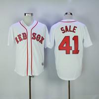 baseball transfers - New Transfer Chris Sale Jersey Boston Red Sox Jersey Men Chris Sale Flexbase Cool Base All Stitched Embroidery Baseball Jersey