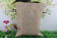 bamboo cosmetic packaging - Jute Sacks Drawstring gift bags for jewelry Accessories Cosmetic wedding christmas Linen pouch Packaging Bag