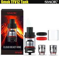 Top Smok TFV12 Réservoir 6.0ml Cloud Beast King Max 350W Sub ohm Atomiseurs Plus grand diamètre Delrin Drip Tips Smoktech Alien Mods e cigs Vapor DHL