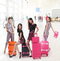 abs suitcases - Women Rolling Luggage Fashion ABS Solid Color Travel Suitcase Password Valise Boarding Suitcase Travel Box color EC
