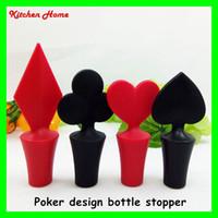 beer cap designs - Poker Design Wine Stopper Sunflower Wine Bottle Caps Silicone Beer Wine Milk Jam Bottle Stoppers