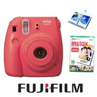 Wholesale Fujifilm Fuji Instax Mini Camera New Red Raspberry Color Fujifilm Instax Mini White Mini Films Photo Paper Ablum