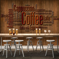 background coffee - D Stereo Custom Vintage Coffee Cafe Alphabet Mural Background Wall Living Room Lobby Studio Wallpaper Mural