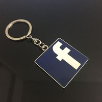 Wholesale 2016 Car styling Fashion Creative facebook Simulation micro letter Metal Car Logo Key Ring Keyring Keychain Key Chain For BMW Audi Mercedes