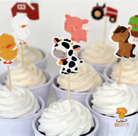 baby shower zoo animal - Farm cake toppers Animal party cupcake picks cases petting zoo kids birthday party decoration baby shower candy bar