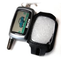 Wholesale LCD remote for Starlinor A9 two way car alarm sytem with PU leather case Starlinor A9 remote PU leather case