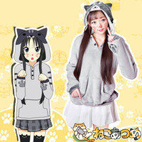 Neko Atsume Cat Hoodie Femmes Casual Hooded Hoodies Manteau avec Cat oreille queue et griffes Pull à capuche
