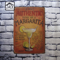 Wholesale Recipe for a Cocktail Advertising Plaques Metal Tin Plate Poster X30CM Vintage Tin Signs Bar Club Cafe Shop home Wall Decor