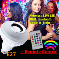 Wholesale Wireless W E27 Remote Control LED RGB Bluetooth Speaker Bulb Misic Playing Color Lamp Light