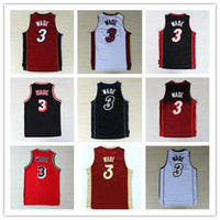 Wholesale Hot Sale New Material Dwayne Wade jerseys size s m l xl xxl Best Quality and Drop Shipping