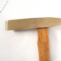 Wholesale Non sparking Scaling Hammers kg Aluminum bronze wooden handle c Safety Hand Tools