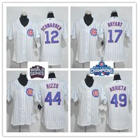 anthony homes - Women s Chicago Cubs Kris Bryant Anthony Rizzo Kyle Schwarbe Jake Arrieta White Home World Series Champions Bound MLB Jerseys