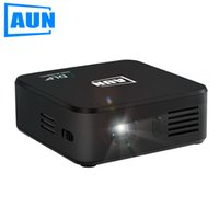 android mini series - AUN Projector AKEY Series E3 Set in Android WIFI Bluetooth DLP Mini Projector with mAH Battery for Business Meeting Lectures