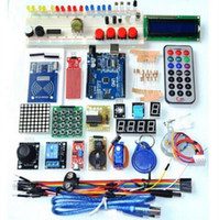Wholesale 10sets Arduino RFID learning suite UNO R3 Upgrade starter kit LCD screen