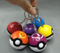 Wholesale pokeball cm ABS Styles Poke Ball Keychain Pendants PVC Actioon Figure Collectable Model Toy for Christmas Gifts children s gift best