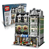 architecture series - LEPIN Creators series the Green Grocer house Model Building Blocks Compatible Architecture toys
