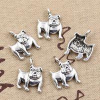 Wholesale Cents Charms dog pug bulldog mm Antique Making pendant fit Vintage Tibetan Silver DIY bracelet necklace