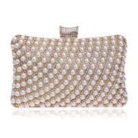 Precio de Señoras monederos moldeado-Los bolsos vendedores al por mayor-Calientes de las mujeres rebordearon los monederos de los monederos de los Rhinestones Señora del mensajero Pearl Diamonds Clutches Bags