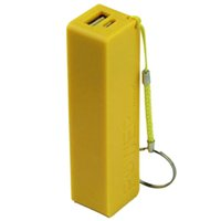 Wholesale Portable Power Bank USB External Backup Battery with Charger Key Chain Colour Yellow