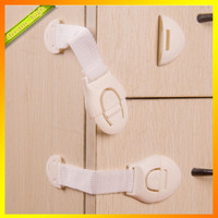 Wholesale Bendy Safety Plastic Locks For Child Kids Cabinet Door Drawers Refrigerator Toilet Safety Lock Baby Protection