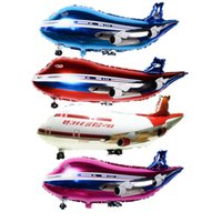 aluminum planes - 36inch Free delivery super large air passenger plane shape aluminum BALLOON Birthday Party Decoration balloon toy