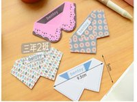 Wholesale Literary creative stationery little pure and fresh and collar bookmarks cute PVC bookmarks school supplies