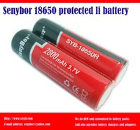 Wholesale Senybor mAh fully capacity with PCB protections Frist order can be high light flashlighter