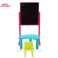 best room furniture - One Set New Arrival Kelly Doll Accessories Fashion Classing Room Furniture Desks Chair Blackboard For Barbie Doll Best Gift