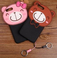 bearing shells - Cell phone cases For iPhone Lovely Ted Bear Cartoon D embossed Lover Cases Mouse Soft Silicone Back Cover Shell for iPhone S plus