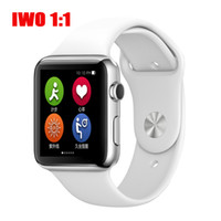Wholesale 42mm Bluetooth Connected Smart Watch IWO MTK2502C Heart Rate Monitor Pedometer Smartwatch for Apple IOS iPhone s