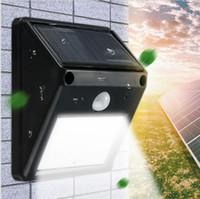 al por mayor ip65 llevó al aire libre-20 LED impermeabilizan la luz de destello sin hilos accionada solar del sensor de movimiento de PIR del IP65 de la yarda del jardín de jardín de la protección del césped b551