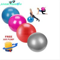 Wholesale Fitness Yoga Ball cm Smooth Balance Fitness Gym Exercise Ball With Pump Balance Pilates Balls