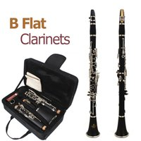 Wholesale SLADE mm Latest European Designed Band B Flat Keys Clarinet with Reeds Black Student Clarinet