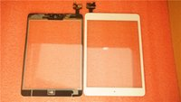 Wholesale New Black White Touch Screen Touch Panel Front Glass Cover With IC Flex Digitizer for ipad mini air