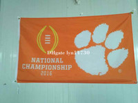 Wholesale 1981 and two time football national champions Clemson Tigers flag with metal Grommets