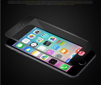 Wholesale 3D Curved Glossy Front Tempered Glass film for iphone plus screen protector full cover H Soft Carbon Fiber Edge Screen Protectors