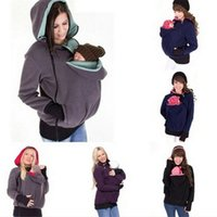 baby holds - Womens Cotton Cardigan Hoodies for Spring and Autumn Plain Babysit Parent Kids Clothes Hand Free Holding Baby Clothes
