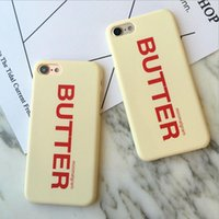 apple butter - New style buttery yellow color with butter English alphabet pc and frosted Spray rubber oil mobile case for iphone s