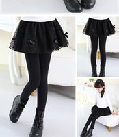 Wholesale 2016 new hot style girls leggings skirts pants to keep warm in the spring and autumn winter trousers princess han edition two things off