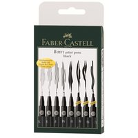 Wholesale LifeMaster Faber Castell Pitt Artist Pen Black XS S F M B SC SB Drawing Pen Design Supplies