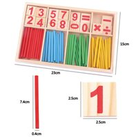 Wholesale Children Wooden Numbers Mathematics Early Learning Counting Educational Toy Educational Toys Kids Gift wood toy wooden toy