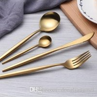 Wholesale Dinnerware Set top Quality Stainless Steel Dinner Knife and Fork and soup cafe ice cream Spoon Teaspoon Cutlery sets h123